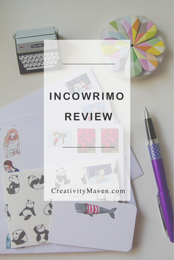 InCoWriMo Review - Lessons, Thoughts, Ideas | Creativity Maven